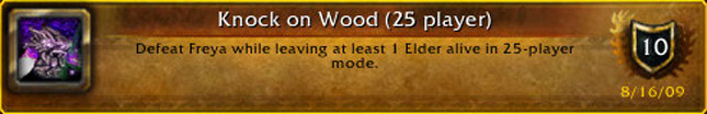 Knock on Wood achievement